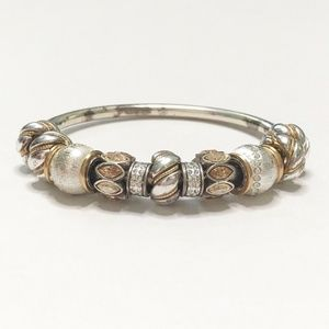 Brighton Charm Bracelet Pre-Made Bangle with Beads